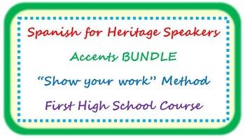 "Accents BUNDLE - ""show your work"" method"