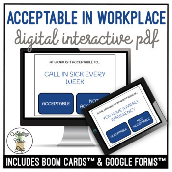 Acceptable/Not Acceptable In The Workplace Digital Activity
