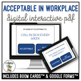 Acceptable or Not Acceptable In The Workplace Digital Activity