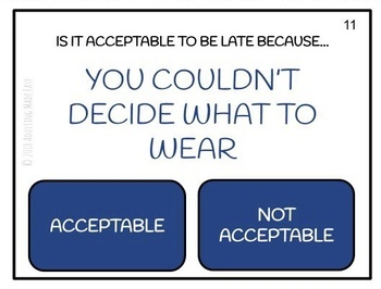 Acceptable / Not Acceptable In the Workplace Task Cards Job Etiquette