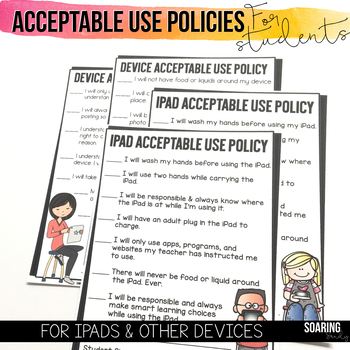 Acceptable Use Policies to Teach Digital Citizenship | For iPads & Other Devices