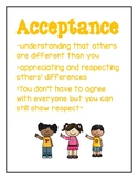 Acceptance Character Education Poster