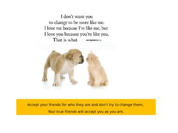 Acceptance: an important character trait
