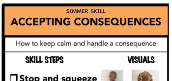 Accepting Consequences Social Skill Steps Poster - The Empower Program K-2