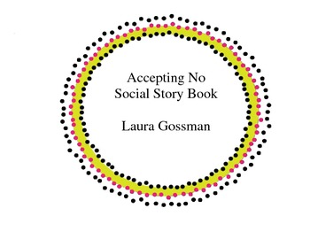 Accepting No Social Stories Book