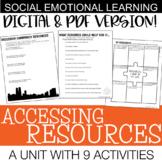 Accessing Resources | Social Emotional Skills Unit | Middle / High School