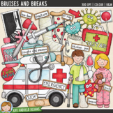 """Accident and Illness Clip Art: """"Bruises and Breaks"""""""