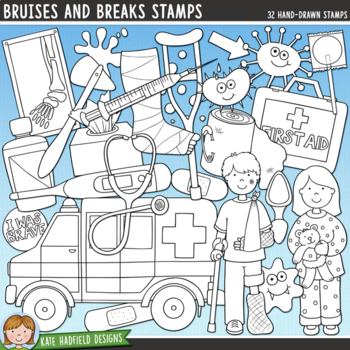"Accident and Illness Clip Art: ""Bruises and Breaks"""