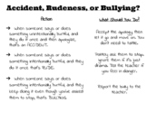 Accident vs. Rude vs. Bullying