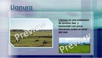 Landforms Power Point (Spanish)