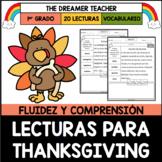 Acción de Gracias: Lecturas para Fluidez y Comprensión