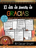 Acción de Gracias. Spanish Thanksgiving activities.