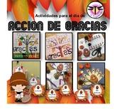 Acción de Gracias: Thanks giving day : Spanish activities for Thanksgiving