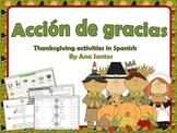 Acción de Gracias- Thanksgiving activities in Spanish