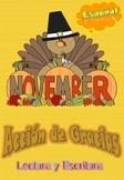 Acción de Gracias: centros de lectura y escritura / Thanks