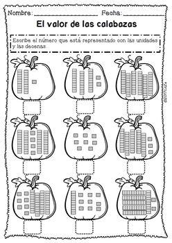 Acción de Gracias: centros matemáticas y lectura/ Thanksgiving NO PREP Spanish