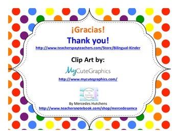 Dia de accion de gracias (librito) - Spanish Thanksgiving Mini Book