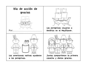 Dia de accion de gracias (librito) - Spanish Thanksgiving