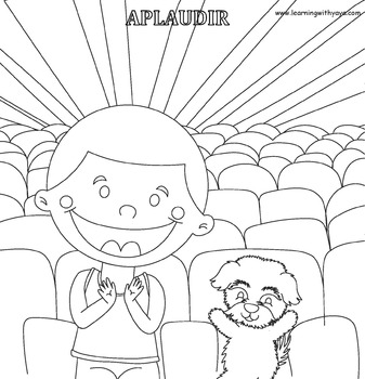 Acciones- Song and coloring book! (SPANISH)