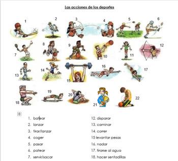 Acciones de los deportes (Sports Actions)