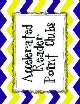 Acclerated Reader (AR) Point Clubs Printable- Purple and Yellow Chevron