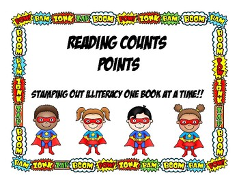 Acclerated Reader, Reading Counts Student Recording Chart No Prep