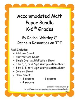 Accommodated Math Paper