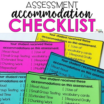 Accommodation Assessment Checklist