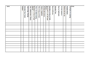 Accommodation Chart