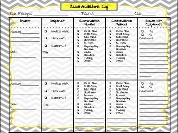 Accommodation Documentation Log