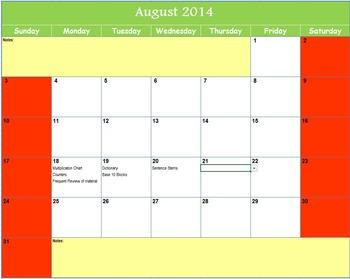 Accommodation Intervention RTI Calendar Tracker