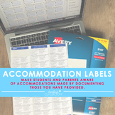 Accommodation Labels   Special Education