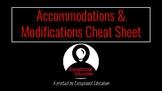 Accommodation & Modification Cheat Sheet