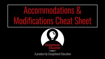 Accommodation & Modification Cheat Sheet