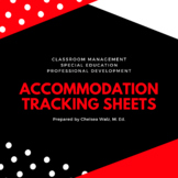 Accommodation Tracking Sheets