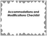 Accommodation and Modification Checklist for Reading and S