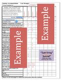 Accommodations Cheat Sheet/Checklist (sample)