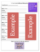Accommodations Cheat Sheet/Checklist (sample)
