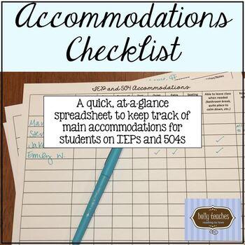 Accommodations Checklist