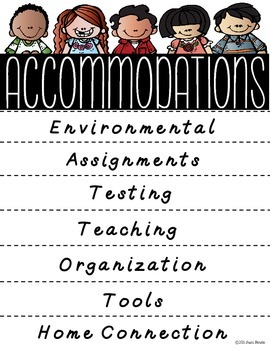 Accommodations Flip Book {Freebie}