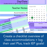 3-in-1 Special Ed Bundle: Accommodations Log/Checklist + IEP Goal Tracker