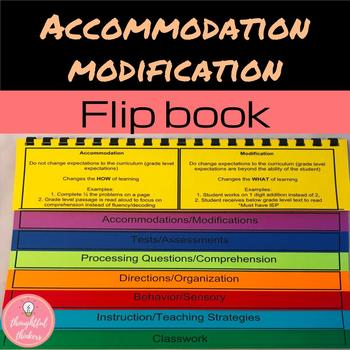 Accommodations/Modifications Handout for General Education Teachers