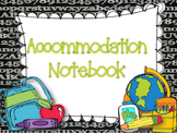 Accommodations Notebook- Students with Special Needs