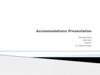 Accommodations PowerPoint Presentation