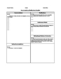 Accommodations and Modifications Checklist