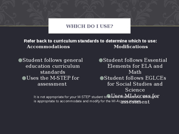 Accommodations and Modifications in the General Education Classroom