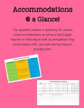 Accommodations at a Glance!