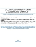 Accommodations for Assessments Labels