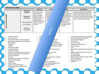 OTES Binder: Accomplished Teacher Examples (OTES) Ohio Based Part 1