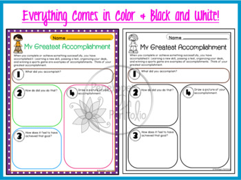 ACCOMPLISHMENT Character Education Packet